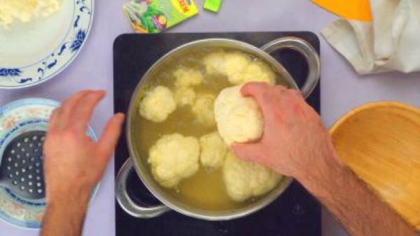 Primer paso tortitas de coliflor