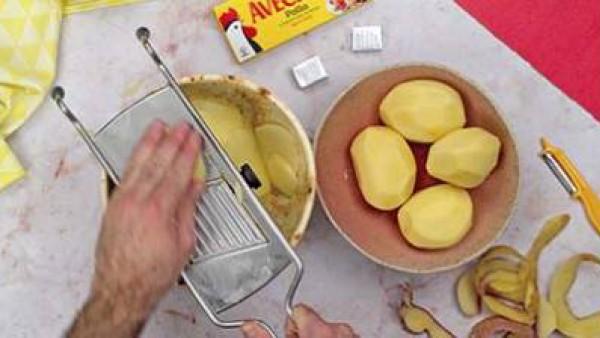 Primer paso pastel de patata y jamon