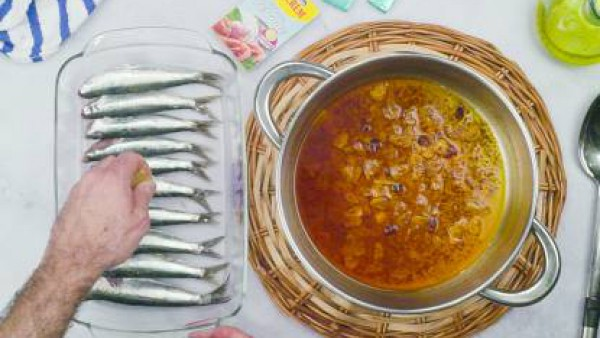 Segundo paso sardinas al horno