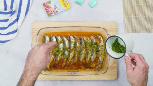 Tercer paso sardinas al horno
