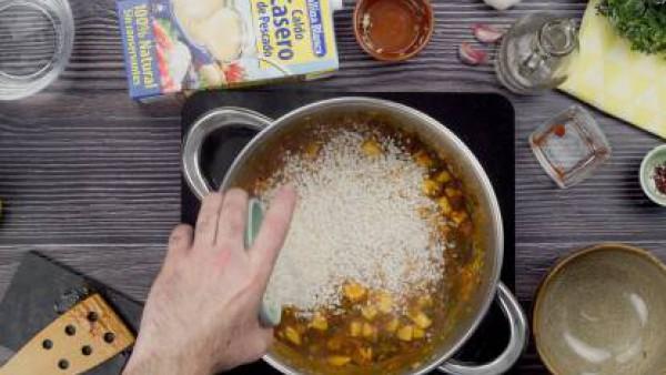 Primer paso arroz caldoso