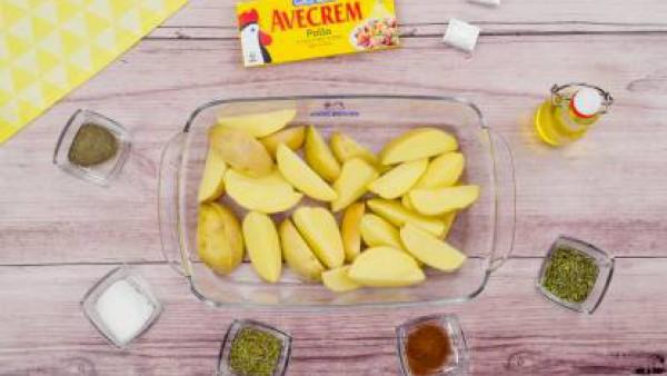 Primer paso patatas fritas con carne