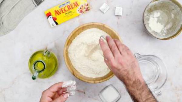 Primer paso bolas de pan relleno