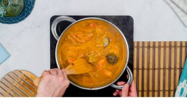 Primer paso arroz caldoso con bogavante