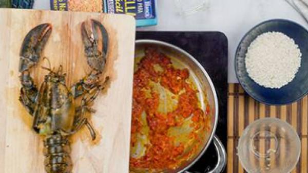 Tercer paso arroz caldoso con bogavante