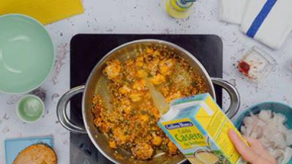 Paso 2 arroz con bacalao y coliflor