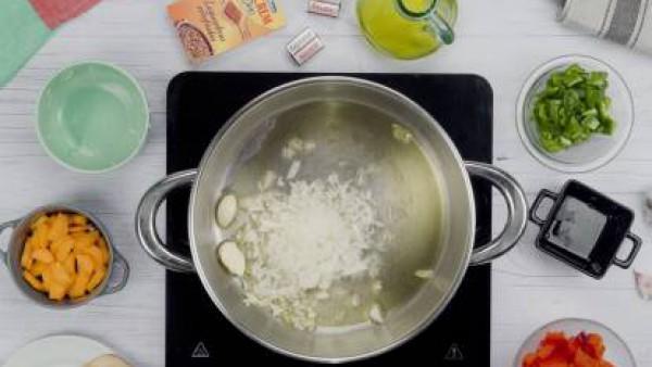 Primer paso lentejas con chorizo y verduras