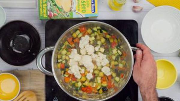 Segundo paso arroz integral con verduras