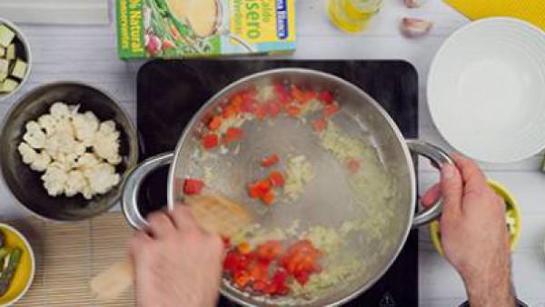 Tercer paso arroz integral con verduras