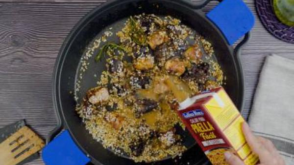 Segundo paso arroz con butifarra