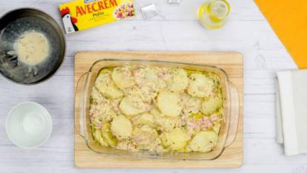 Tercer paso patatas con bacon y queso