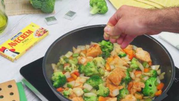 Segundo paso pollo con brócoli