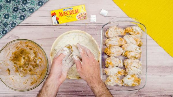 Tercer paso alitas de pollo adobadas