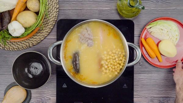 Segundo paso cocido castellano