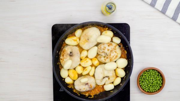 Tercer paso guiso de merluza con patatas