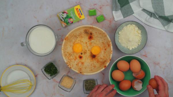Primer paso pastel de calabacín y atún