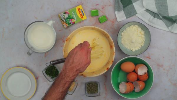 Segundo paso pastel de calabacín y atún