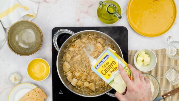 risotto de pollo paso 2