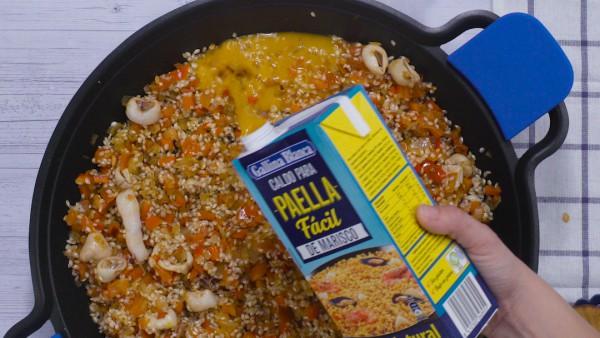 Tercer paso arroz con pollo y marisco
