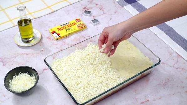 Tercer paso pastel de patata y carne picada
