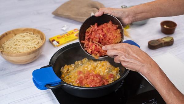 Espaguetis a la napolitana paso 2
