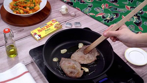 Tercer paso filete de ternera a la plancha con verduras