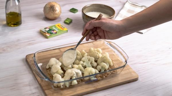 Coliflor gratinada con patatas paso 2