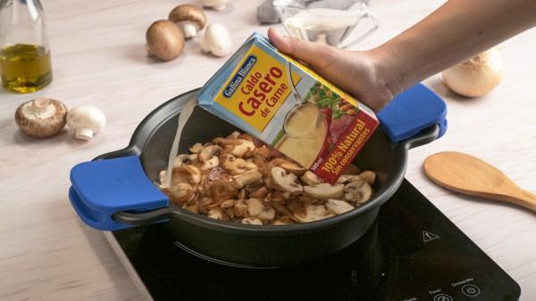 Lomo en salsa champiñones paso 2