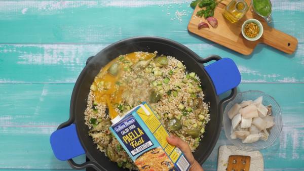 Arroz con bacalao y alcachofas paso 3