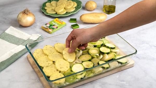 Verduras al horno con patatas Paso 2