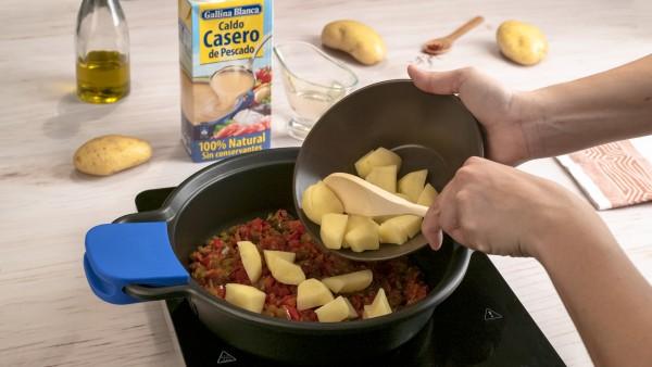 Primer paso almejas con patatas