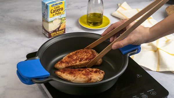 Solomillo de pavo con salsa de cebolla Paso 1