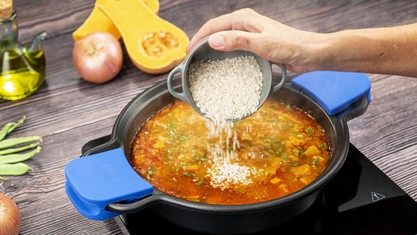 Garbanzos con arroz y verduras Paso 3