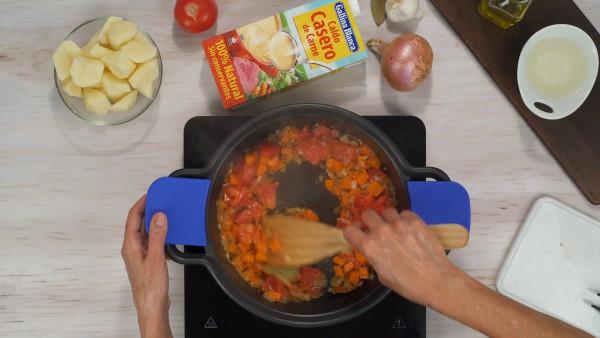 Segundo paso guiso de ternera con patatas