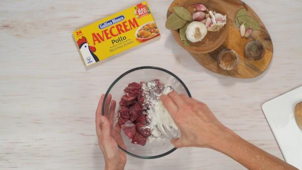 Estofado de carne con verduras Paso 1