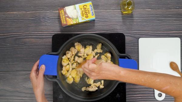Garbanzos con pollo Paso 1