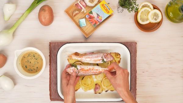 Tercer paso salmonetes al horno