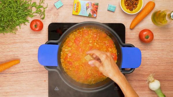 Tercer paso langosta en salsa