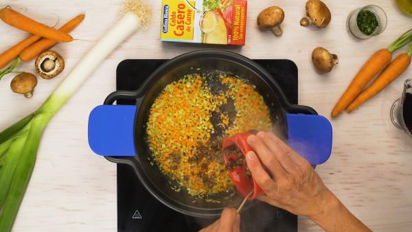 Segundo paso mollejas de ternera en salsa