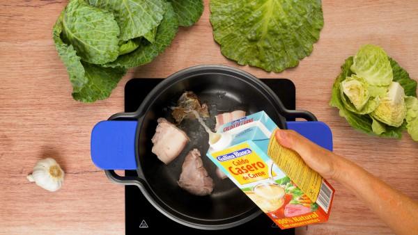 Primer paso sopa de cocido lebaniego