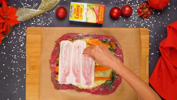 Paso 2 carne rellena para navidad
