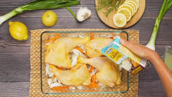 Paso 1 pollo al romero y limón