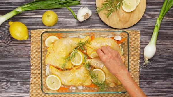 Paso 2 pollo al romero y limón