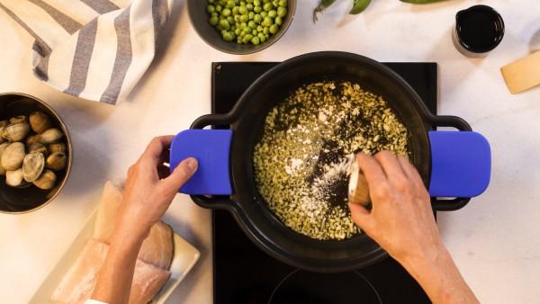 Paso 1 lubina en salsa verde