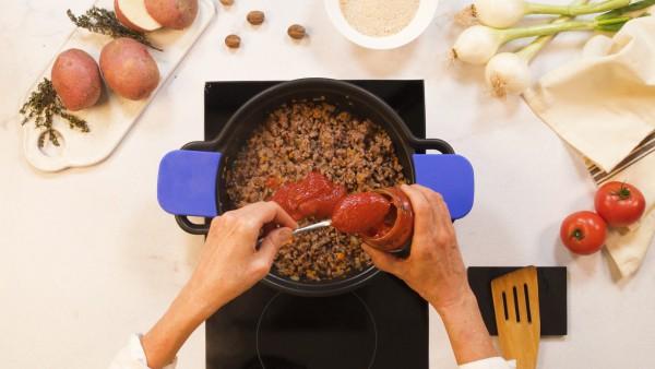Paso 1 pastel de carne con patatas