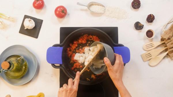 Paso 1 arroz meloso de pescado
