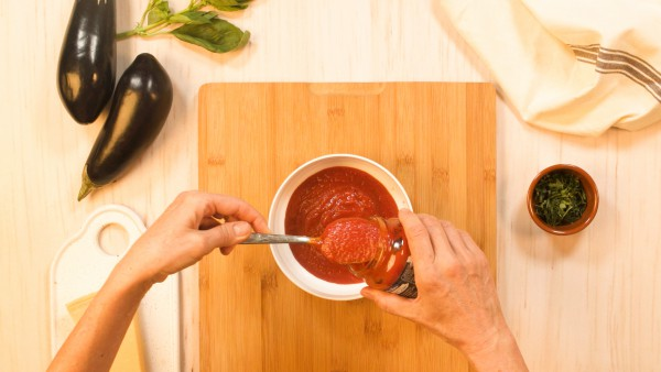 Paso 1 berenjenas a la parmesana