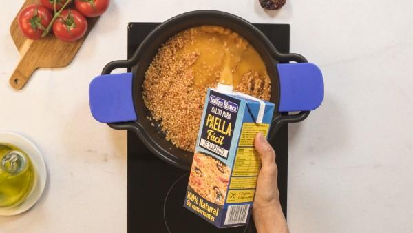 Paso 2 arroz al caldero