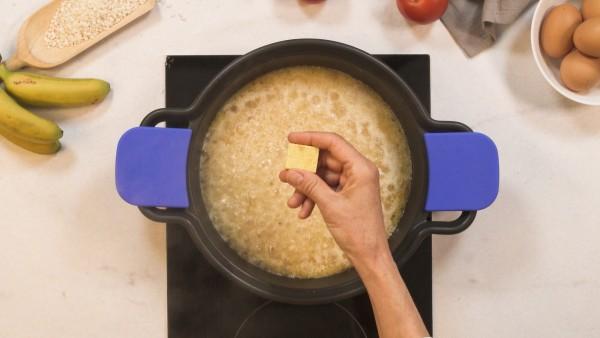 Paso 2 arroz a la cubana con plátano