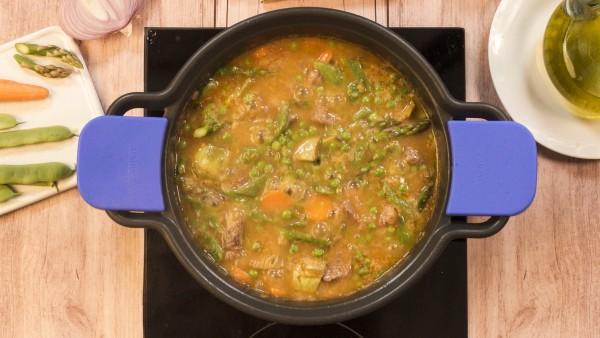 Paso 3 menestra de ternera con verduras
